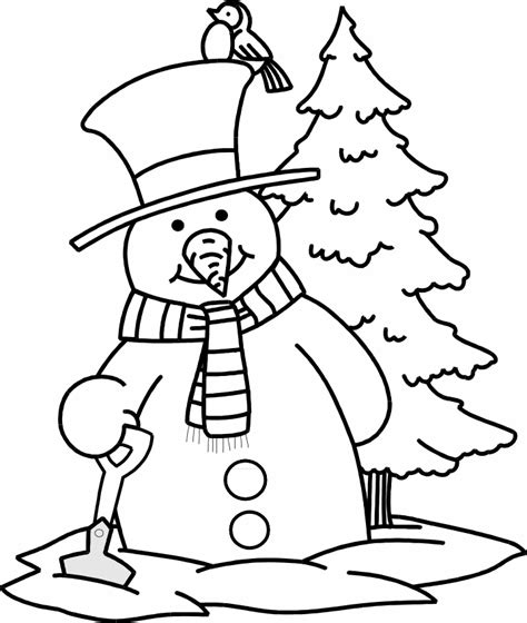 snowman coloring pages printable coloring home
