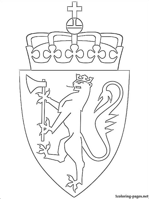 norway christmas coloring page norway coat of arms coloring page coloring pages