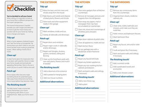house checklist home enhancement checklist michael bloch s santa cruz