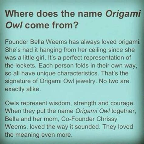 Founder Of Origami Owl - founder weems and why she chose origami owl as the