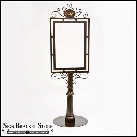 Decorative Sign Posts by Outdoor Metal Sign Holders Decorative Wrought Iron Sign