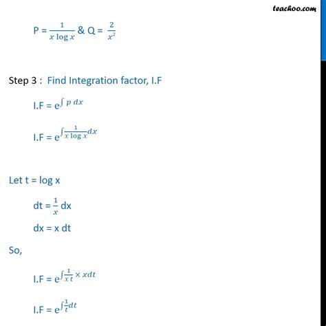 Kalkulus 3 Edisi 5 ex 9 6 7 find general solution x log x dy dx y 2 x