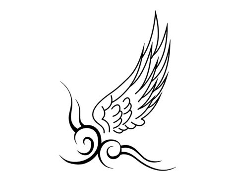 simple tattoo wings simple tribal wing tattoo designslarge wing tribal pattern