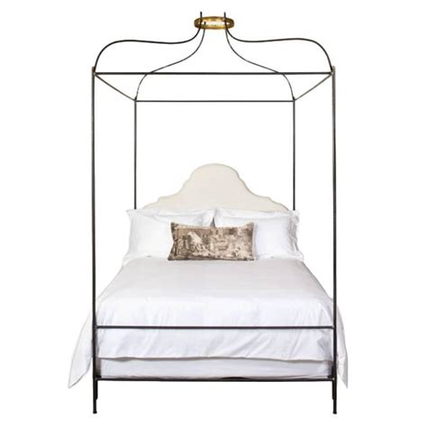canopy beds queen size iron venetian canopy bed with headboard upholstered in