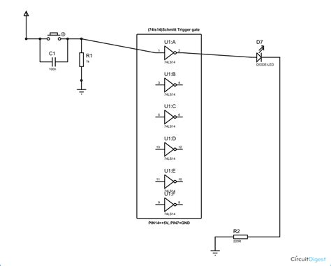 pull up resistor trigger trigger gate circuit diagram working explanation