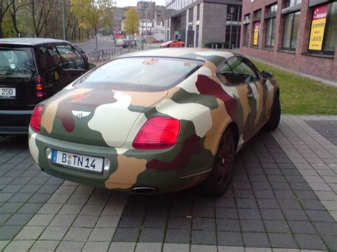 bentley camo bentley continental gt camouflage version found in berlin