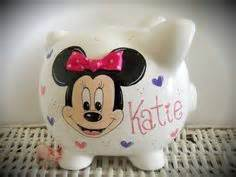 Jumbo Future Polka personalized jumbo piggy bank disney minnie mouse mickey