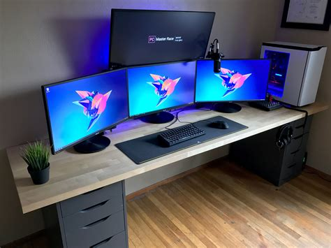 Computer Desk Setup Battlestation Refresh 2017 Bestgamesetups Pinterest Gaming Setup Desks And Gaming