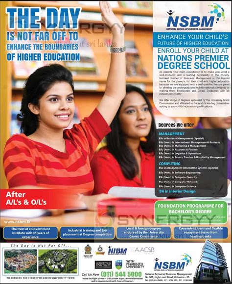 Nsbm Mba by Management And Computing Degree Programmes At Nsbm