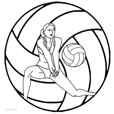 free printable volleyball pictures printable volleyball coloring pages for kids cool2bkids