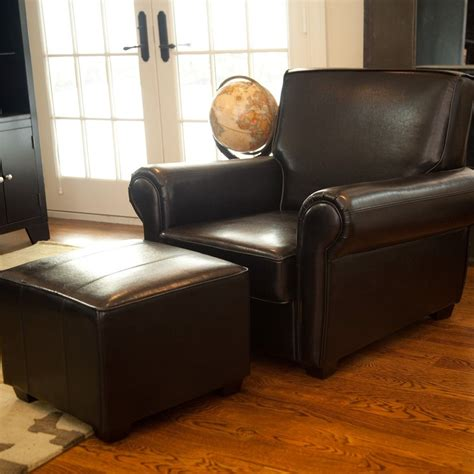 ottoman with metal legs awesome furniture tufted leather chair and ottoman