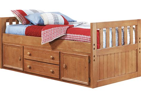 twin captains bed creekside taffy 3 pc twin captain s bed twin beds light wood