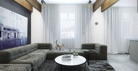 gauzy white curtains sleek interiors for a range of personalities