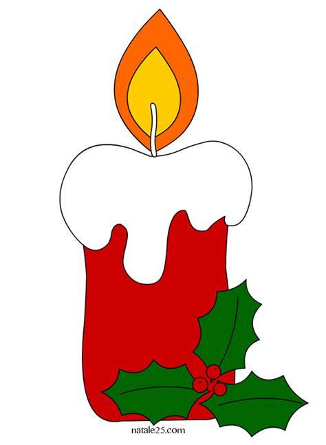 disegni di candele candela rossa con agrifoglio natale 25