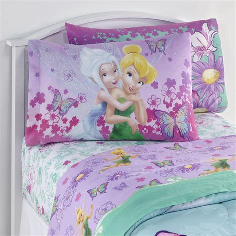 Disney Tinker Bell Fairies Pillowcase Home Bed Bath Disney Fairies Bedding Set