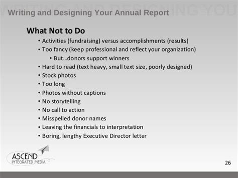 Annual Report Letter From Executive Director How To Write An Effective Nonprofit Annual Report