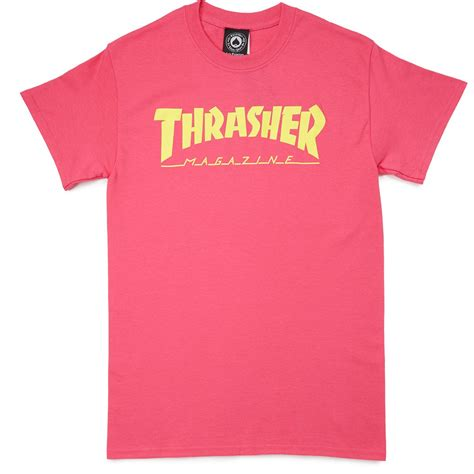 Trasher Logo Tees 1 thrasher magazine logo t shirt pink