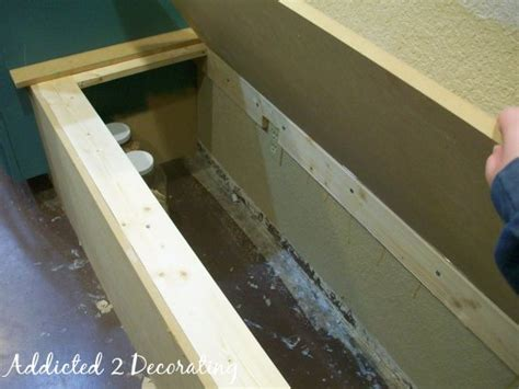 banquette seating plans build how to build a banquette seat with storage