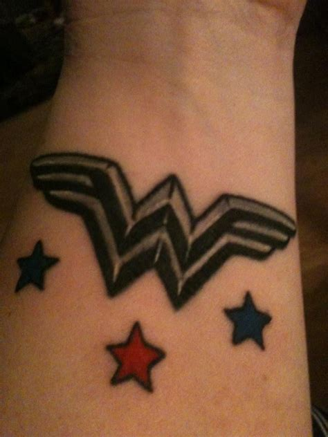 wonder woman symbol tattoo new and improved done by jen yelp