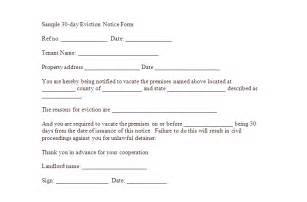 Written Notice Template Uk by Notice To Vacate Template Real Estate Forms