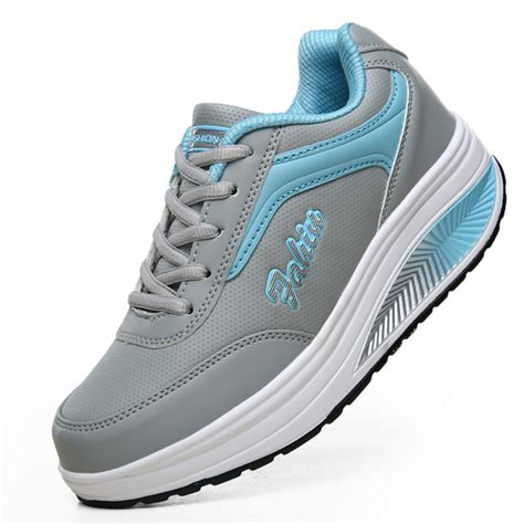 womens casual athletic shoes casual sport running shoes lace up shook shoes soft
