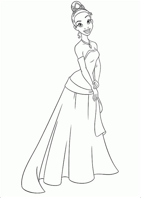 coloring page of princess and the frog princess and the frog coloring pages coloringpagesabc com