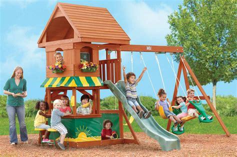 kids backyard playsets santa fe wooden playset traditional kids playsets and