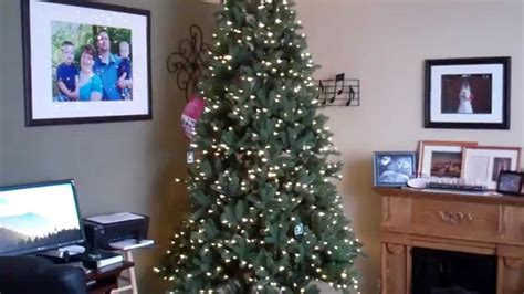 costco ez connect artificial christmas tree 9ft set up