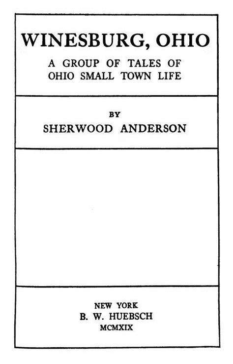 Winesburg, Ohio - Winesburg, Ohio and Olive Kitteridge