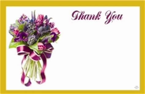 Fresh Cut Flower Preservative by Quot Thank You Quot Purple Bouquet Gold Border Pack Of 50