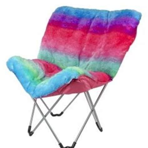 Justice Chairs - rainbow faux fur butterfly chair from justice saved