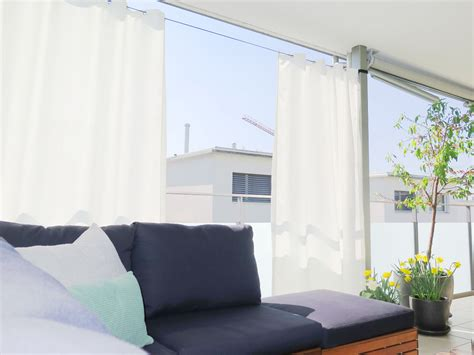 terrasse vorhang vorhang balkon aussen home image ideen