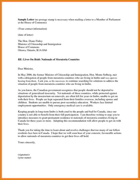 Support Letter For Immigration immigration letter of support letter format template