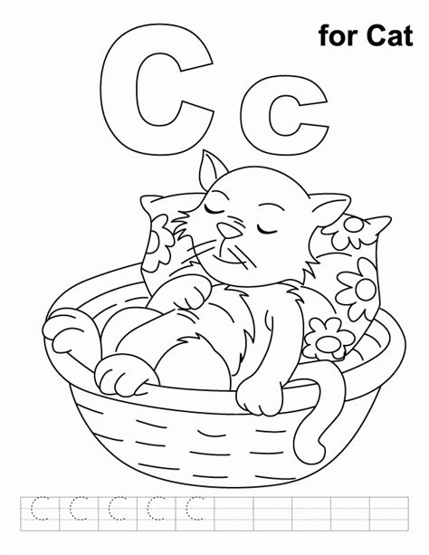 c cat coloring page letter c coloring pages coloring home