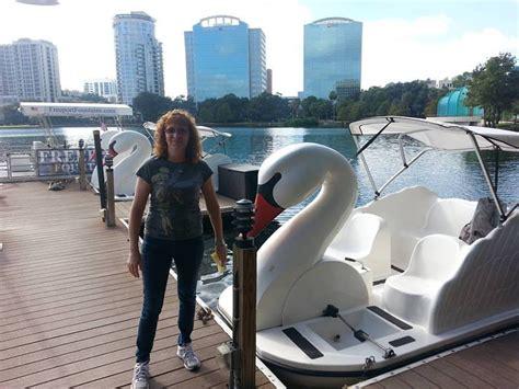 paddle boats lake eola paddling lake eola swan paddle boat youtube