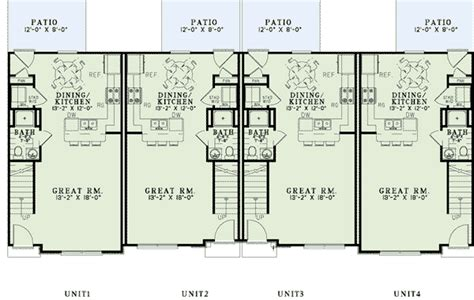multi family apartment floor plans multi family plan 82288 at familyhomeplans