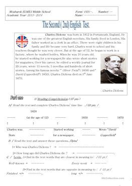 esl biography exercise 9 free esl charles dickens worksheets