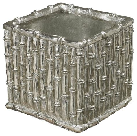 Silver Planters by Silver Bamboo Bamboo Planter Indoor Pots