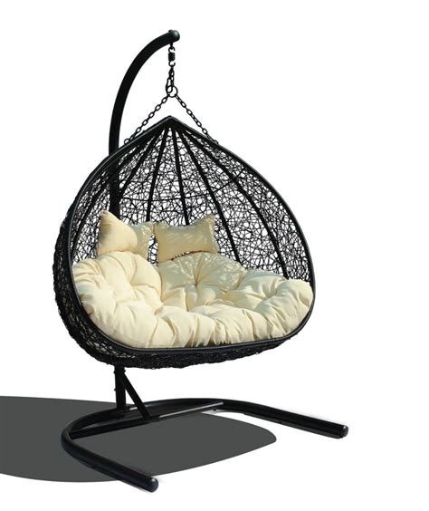 estella dual sitting outdoor wicker swing chair porch estella synthetic wicker dual seater hanging chair