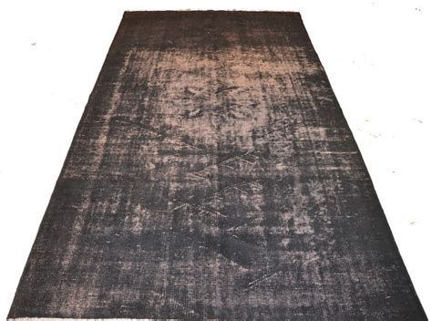 Charcoal Grey Rugs by Charcoal Grey Overdyed Rug Eclectic Rugs Other Metro
