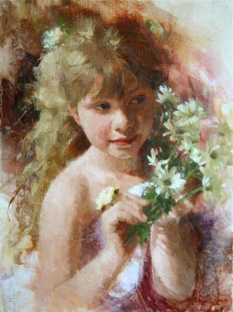 Handmade Portraits - children custom portarit painting painting 12x16 by