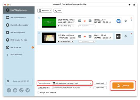 format video converter mac avi converter for mac convert mp4 mkv mov to avi for free