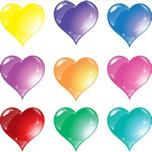 colored hearts colored hearts color glass hearts color glass
