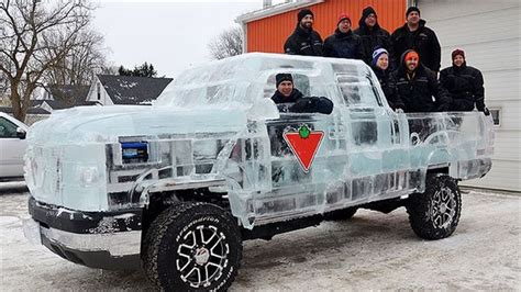 First Ever Self Propelled Truck Made Of Ice Diply