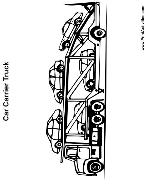 car carrier coloring page truck coloring page car carrier