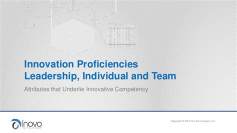 innovation proficiencies
