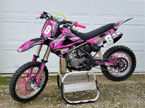 pink motocross bike 2001 2013 kx 85 100 graphics kit kawasaki kx85 kx100