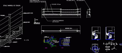 barandilla dwg stair railing detail dwg detail for autocad designs cad
