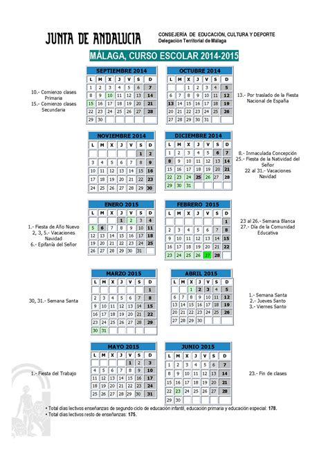a colegio andersen malaga calendario escolar para el
