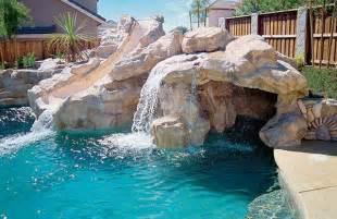 Backyard Pools With Rock Slides 16 Beautiful Backyards You Wish Yours Looked Like